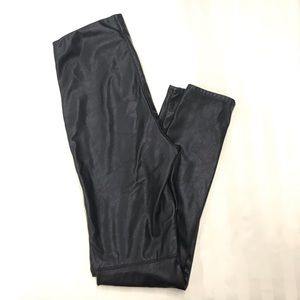 H&M Divided vegan leather jeggings